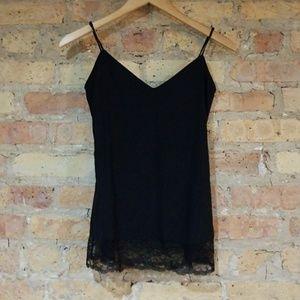 Diane von Furstenberg Black Silk Lace Cami